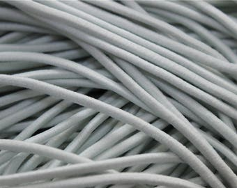 5 meters of cord color-white elastic