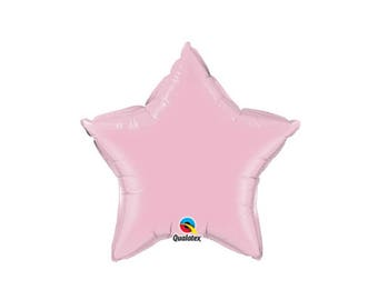 Pearl Pink, Star Foil Balloon, 20 Inch, Hanging Decorations, Party Decorations, Supplies, Graduation Balloons