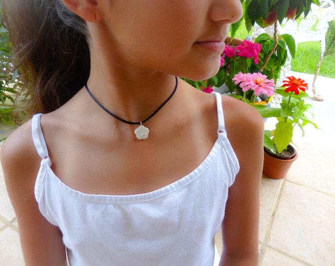 Children Jewelry Girls Necklace Small Flower Dainty Pendant for Girls  Handmade Jewelry