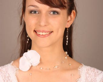Ornament wedding Louana necklace and matching earrings