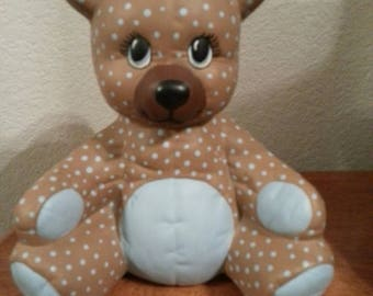 Ceramic Bear with Quilted Look