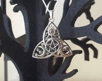 Vintage Celtic Trinity Knot w/pentacle