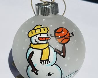 Basketball Player Ornament - Personalize Basketball Ornament - Hand-Painted Christmas Ornament - Personalized Ornament - Basketball Ornament