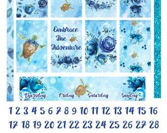 Underwater Adventure Weekly Kit for Happy Planner, Printable Planner Stickers