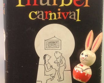 Classic MCM Book, The Thurber Carnival, James Thurber, 1957, Great Condition, Fab Font, Great Gift, Display, Decor, Book Stack, Cartoons
