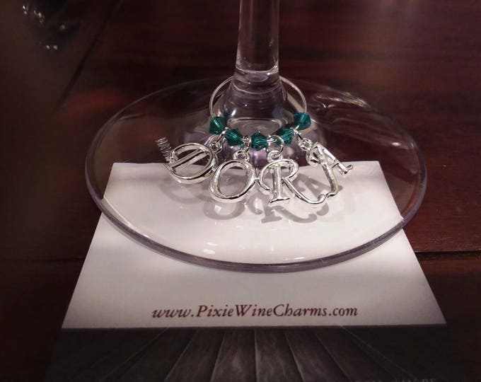 Personalized Wedding Wine Charms With Name- Name Wine Charms - Bridal Party Gifts - Wedding Party Gifts, personalized Gift