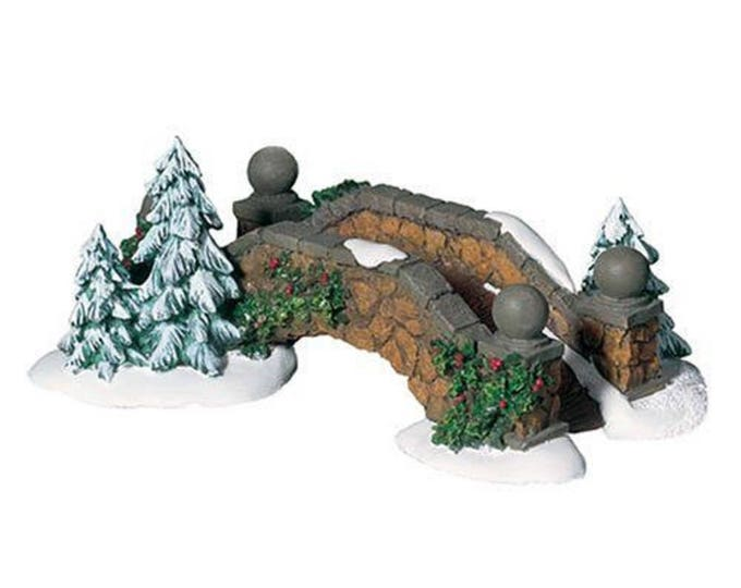 Dept 56 Stone Footbridge, Retired Accessory, Department 56 Decorative Village Series Footbridge 52646, Collectible Christmas Figurine