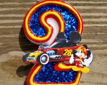 Mickey Roadster Racers birthday candle