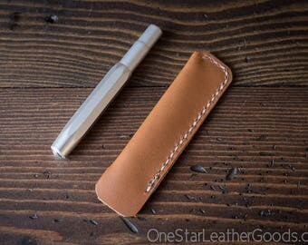 Kaweco Sport pen sleeve - hand stitched Horween leather - tan