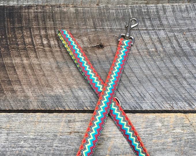 Colored Chevron Dog Leash