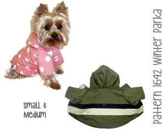 Winter Dog Coat Pattern 1642 * Small & Medium * Dog Clothes Sewing Pattern * Dog Coat * Dog Jacket * Boy Dog Clothes * Girl Dog Clothes