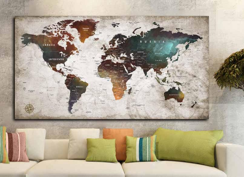 World map posterworld map decalworld map canvas panelworld map world map posterworld map decalworld map canvas panelworld map printworld map artworld map wall artpush pin map postertravel map art gumiabroncs Gallery