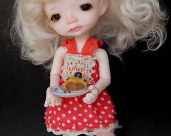 Red dress for Pukifee or Irrealdoll bjd doll outfit sundress