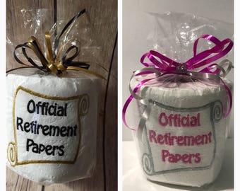 Unique retirement gift, Retirement Papers, Retirement party, Gag retirement gift, Office retirement , Official Retirement Papers, Gag Gift