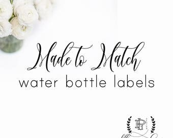 Made to Match Water Bottle Labels