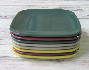 Brookpark Modern Design, Melamine Dessert Plates, Joan Luntz, set of 8