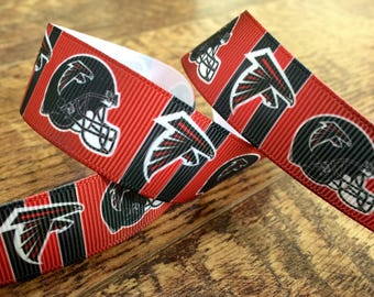 5 yards 7/8 Atlanta Falcons ribbon. Atlanta Falcons ribbon, Falcons ribbon, grosgrain ribbon, craft, crafting, sewing, scrapbook, hairbows