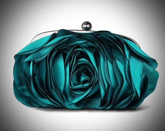 Princess Nancy/Ultimate Luxury Pink Rose Silk Clutch/Wedding Bride Bridal Accessory/Gift For Her/Evening Purse Fashion Accessory Women