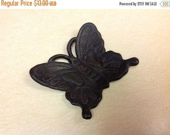 4th of July sale Black Wrought Iron Butterfly