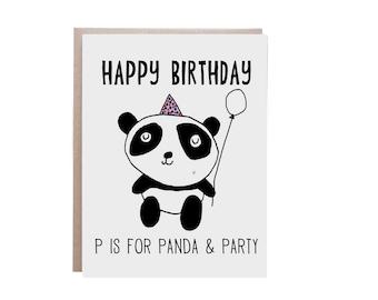 Happy Birthday Card, Funny Birthday Card, Pun Card, Panda Card, Panda Birthday Card