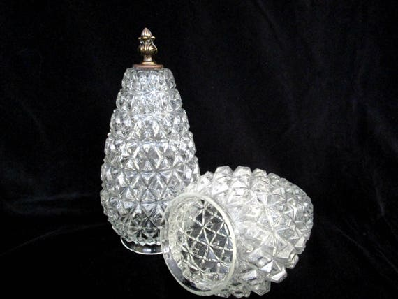 Pair of Hanging Swag Lamp Globes, Hollywood Regency, Hanging Light Globes, Teardrop Hanging Globes, Swag Light Globes, Ornate Light Globes