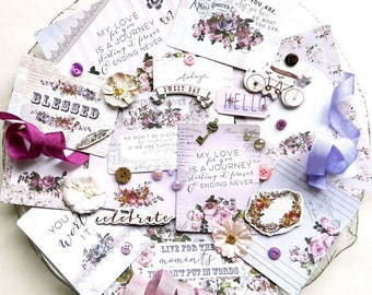 Embellishment Kit / Prima Lavender / Scrapbook Kit / New Prima / Bullet Journaling / Junk Journal / Planner Accessories / Embellishments