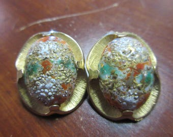 Clip on Earrings signed Judy Lee