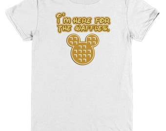 Here for Waffles Disney Gift Shirts Mickey Mouse Shirt Child Youth Fun