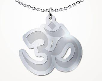 Ohm Necklace Motivational Inspirational Om Meditation Gift Jewelry