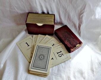 Antique Flinch Game Cards  circa 1913  with Original Box