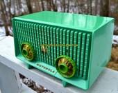 Motorola 56R Sea Green 1957 AM Tube Radio Mid Century Vintage Rare! Works Great!