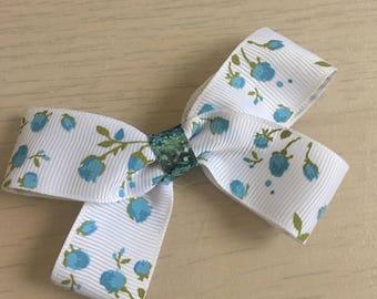 Flower bow, grosgrain ribbon bow