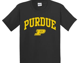 Purdue Boilermakers Arch Logo YOUTH T-Shirt - Black