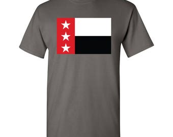 Laredo City Flag T Shirt - Charcoal
