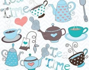 80% OFF SALE Teapot clipart commercial use, vector graphics, digital clip art, digital images  - CL406