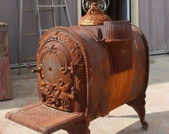 Wood burning stove etsy for Decorative rocket stove