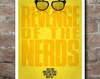 REVENGE Of The NERDS Movie Quote Poster