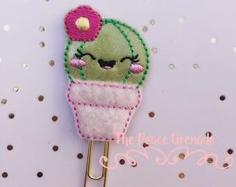 Cactus planner clip