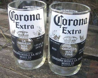 Cut Corona Bottle Glasses