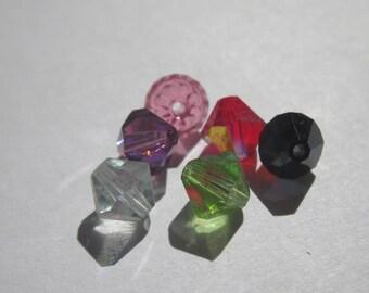 6 genuine swarovski 6 mm Crystal bicones - mix of colors (82)