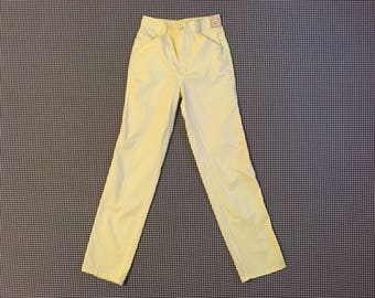 1980's, pale yellow pants, Women's size XXS