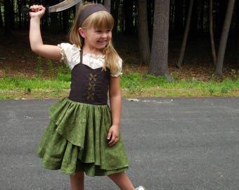 Pirate dress , Pirate Fairy dress, girls Pirate dress . Pirate fairy costume