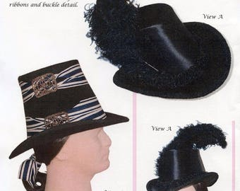 Men's or Women's 1600's - Early 1800's Tall Hat in 2 Styles, Sizes S-XL - Lynn McMasters Sewing Pattern # 33