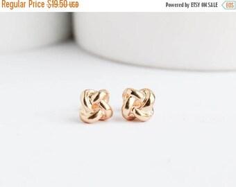 Gold Knot Earrings, Knot Earrings,  Gold Studs, Bridal Earrings, Gold Earrings, Everyday Earrings, Bridesmaid Earrings