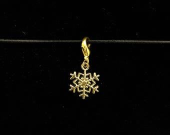 Snowflake (gold) - Jot Clip-on Planner Charm