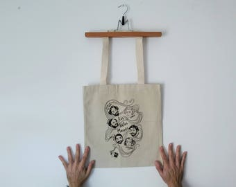 Tote Bag - Screenprint Over Cotton Canvas Tote Bag Poetes Maudits