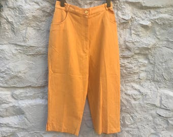 Vintage 90s high waist cropped trousers culottes capri length UK 8 US 4 still with tags