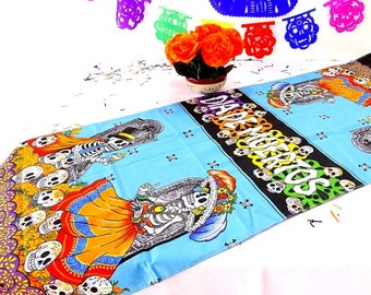 halloween table runner 14x60 inches dia de los muertos day of dead mexican
