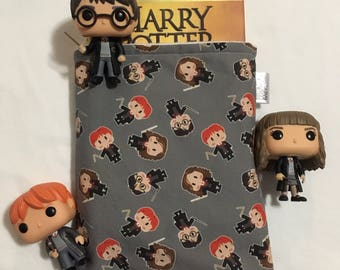 PREORDER Harry Potter book sleeve, Harry Potter trio book saver, Harry Potter book protector, hardcover book sleeve, Ron Weasley, hermione