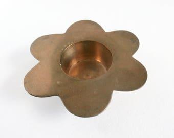 Brass Candle Holder - Vintage Candle Holder - Candle Decor - Vintage Decor
